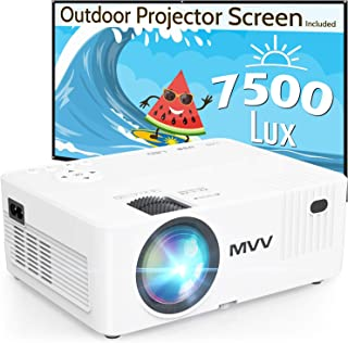 MVV 1080P Projector with 100'' Screen, [200 ANSI--Over...