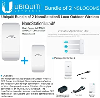 Ubiquiti Nanostation LOCO M5 Outdoor MIMO 11n 5GHz. locoM5 (2 pack)