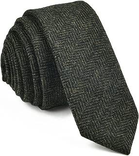 Mens Necktie Skinny Tie Tweed Pattern Woolen Neck Tie-many colors