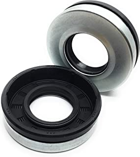 REPLACEMENTKITS.COM Brand Bronco Roto Tiller 2pc Axle Seal Kit Fits Craftsman Huskee Troy-Bilt Yard Machines Replaces MTD 721-04232