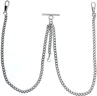 silver double albert chain