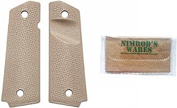 MAGPUL M-O-E 1911 Grip Panels w/ TSP Texture MAG-544-FDE + Nimrod's Wares Micro Fiber Cloth