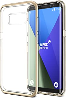 VRS DESIGN Galaxy S8 Plus [Crystal Bumper] Shockproof Clear Case Shine Gold