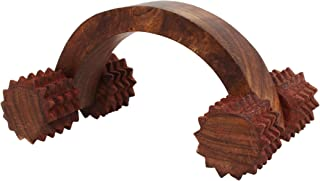 Store Indya Wooden Wheel Massager for Pain & Stress Relieving Handcrafted Acupressure Tools, 6