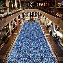 WX&QIANG Hall Blue Rug Runners, Classic Floral Pattern, Neutral Modern, Trendy Design Home Carpet Runner, Carpet Anti-Sli...