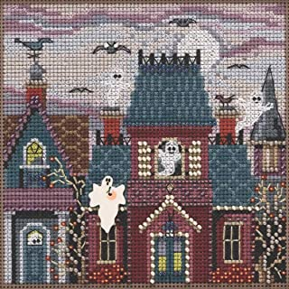 Ghost Town Beaded Counted Cross Stitch Kit Mill Hill 2019 Buttons & Beads Autumn MH141923