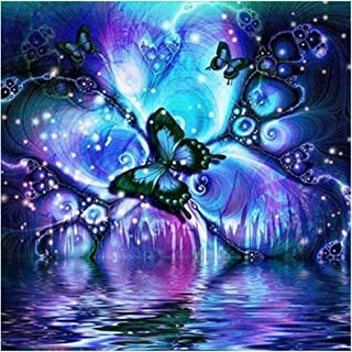 5d Diamond Painting Kits for Adults Full Drill for Kids Diamond Arts Crafts Paintings (Butterfly, 3040cm)