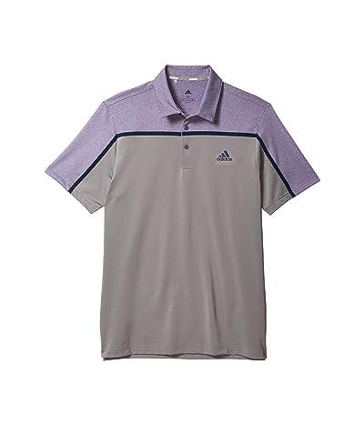 adidas Golf Ultimate365 Color Block Polo Shirt (Grey Three/Tech Purple Mel) Men