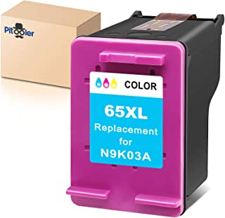 Pitooler Remanufactured Ink Cartridge Replacement for HP 65XL 65 XL Tri-Color to Use with Envy 5052 5055 5012 5010 5020 De...
