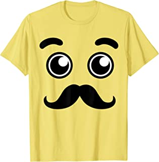 Halloween Emojis Costume Emoticon mustache Beard Face T-Shirt