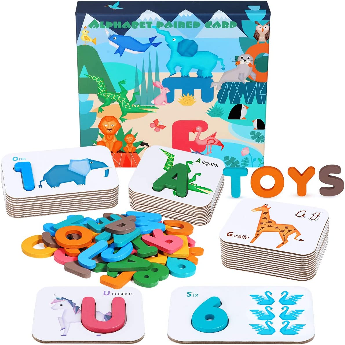 Apfity Alphabet Numbers Flash Cards Regular store ABC for Ranking TOP18 3-6 Years Toddlers