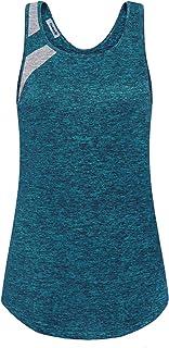 Vindery Women's Yoga Top Color Block Activewear Workout Shirt