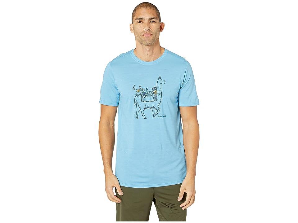 Smartwool Merino Sport 150 Llama Adventures Tee (Geyser Blue) Men