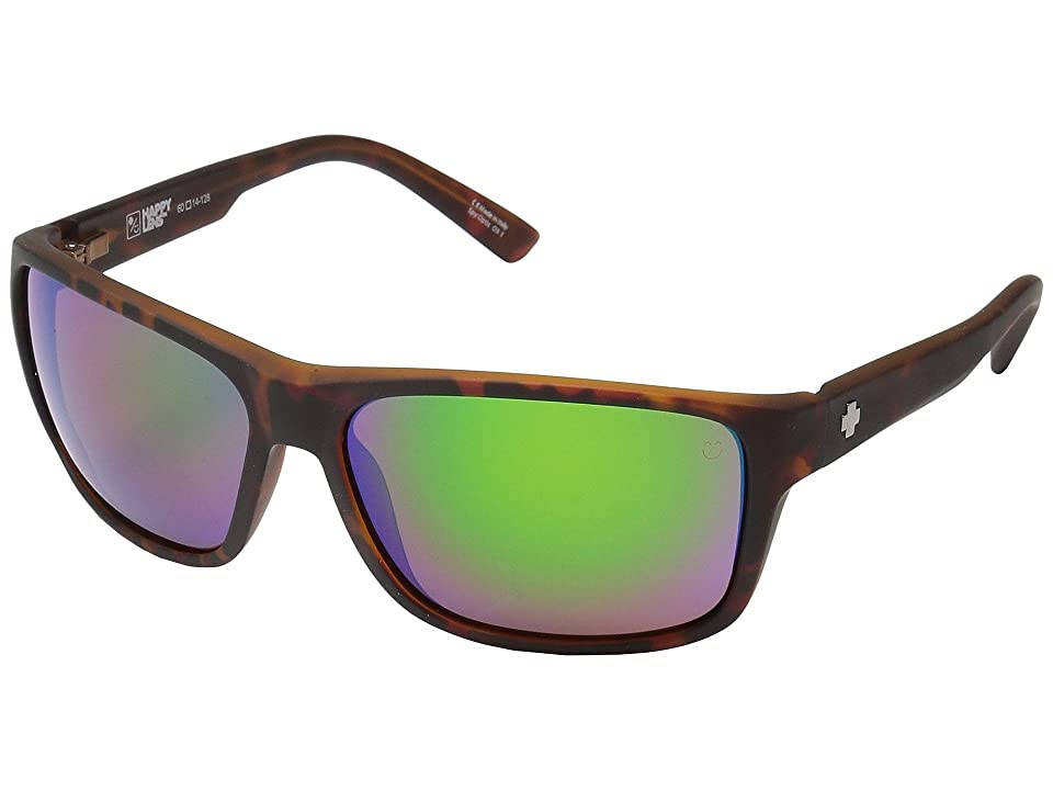 Spy Optic Arcylon (Soft Matte Dark Tort/Happy Bronze/Green Spectra) Sport Sunglasses