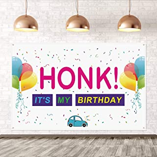 Large Sign HONK IT'S My Birthday Banner- Birthday Party Banner for Kids,Yard Sign Decor,Outdoor Lawn Flag Sign