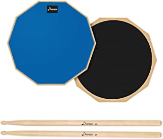 Donner 12 Inches Drum Practice Pad 2-Sided Silent Drum...