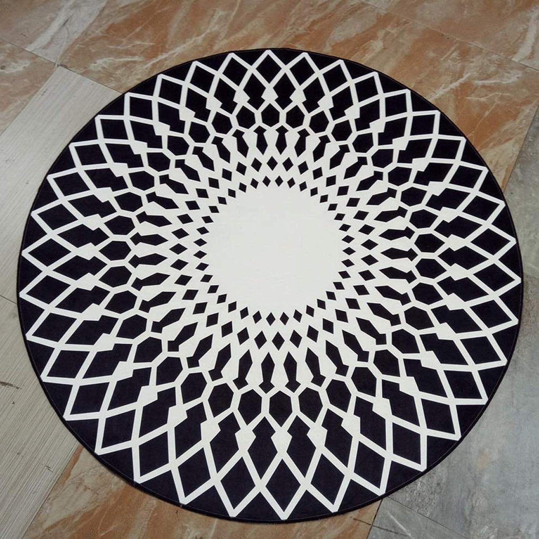 Geometric Pattern Carpet Afternoon Tea Mats Living Room Coffee Table Mats Sleek Minimalist Round Home Carpet