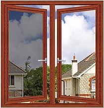 One Way Window Film Window Tint Daytime Pirivacy Mirror Glass Screen Stickers Self-Adhesive Sun Blocking Heat Control Anti Uv DIY for Home Office Silver 17.7 Inch x 6.5 Feet