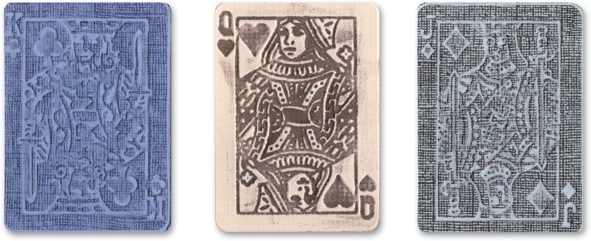 Sizzix 657194 Texture Trades Embossing Face Popular overseas Set b Folders Poker Ranking TOP1