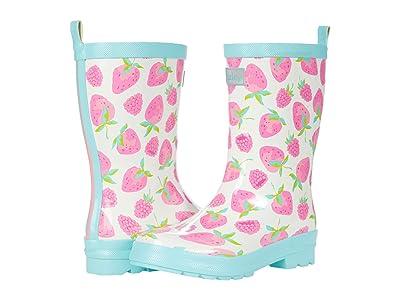 Hatley Kids Delicious Berries Shiny Rain Boots (Toddler/Little Kid) Girl