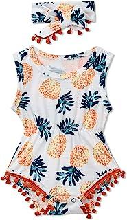 Baby Girls Romper Graphic Printed Sleeveless Jumpsuit...