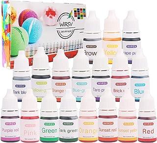 Wtrcsv Colorant de Savon, 5ml x 18 Couleurs Colorants Liquide de Bombe de Bain, Pigment Liquide, Colorant pour Savon, Pigm...