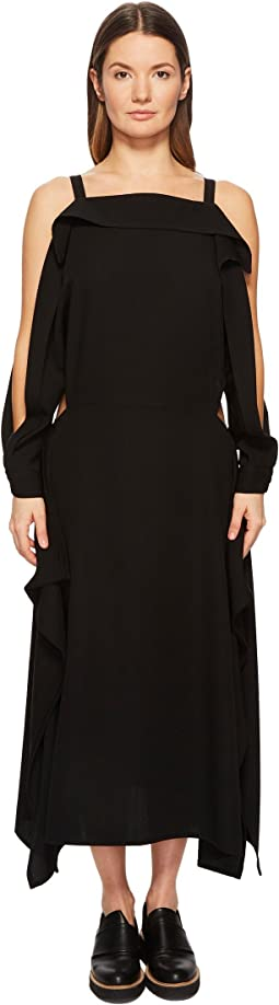 Long Sleeve Cold Shoulder Square Dress