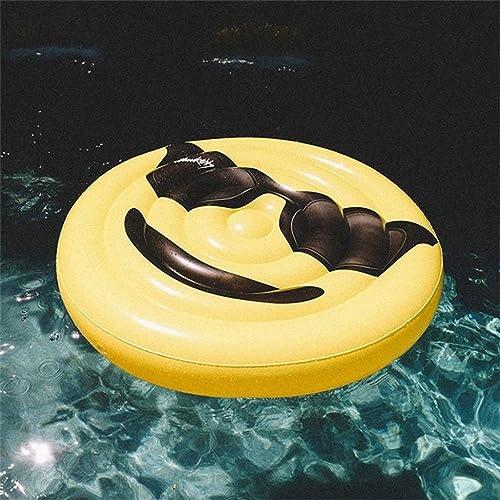 LongYu Sich Hin- und herbewegende Reihe Sich Hin- und herbewegendes Bett aufblasbares Smiley Peacheye Spielspielwaren Verdicken Wasser aufblasbare Montierungen Charakterausdruck