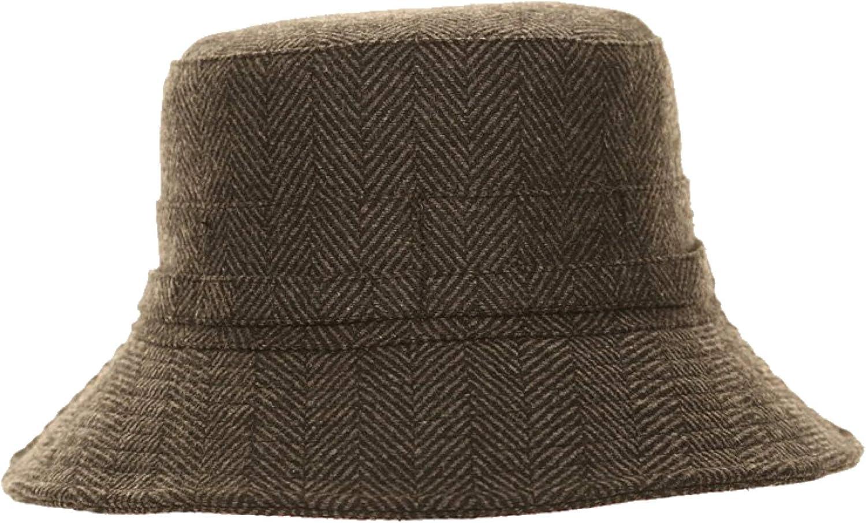 Adonis /& Grace Herringbone Tweed Winter Deer Hunter Fishing Bucket Hat
