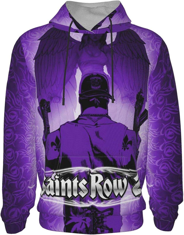 Youth Sai-Nts R-Ow Hoodies Pullover Link 3d Print Pattern Fashion Sweatshirt Saints Row