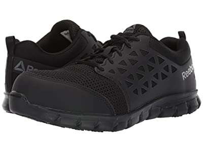 Reebok Work Sublite Cushion Work Comp Toe EH (Black) Men