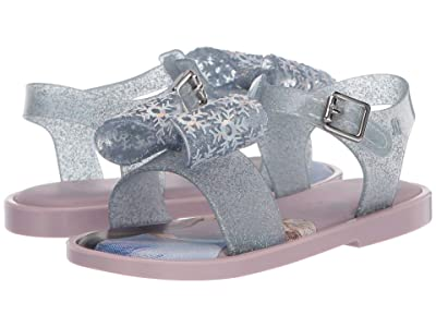 Mini Melissa Mar Sandal + Frozen BB (Toddler/Little Kid) (Lilac Glitter) Girl