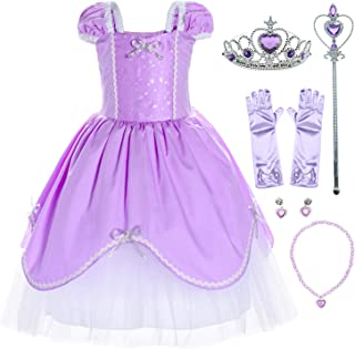 Princess Costume Dress for Toddler Girls Birthday,Halloween,Christmas Party 1-6 Years