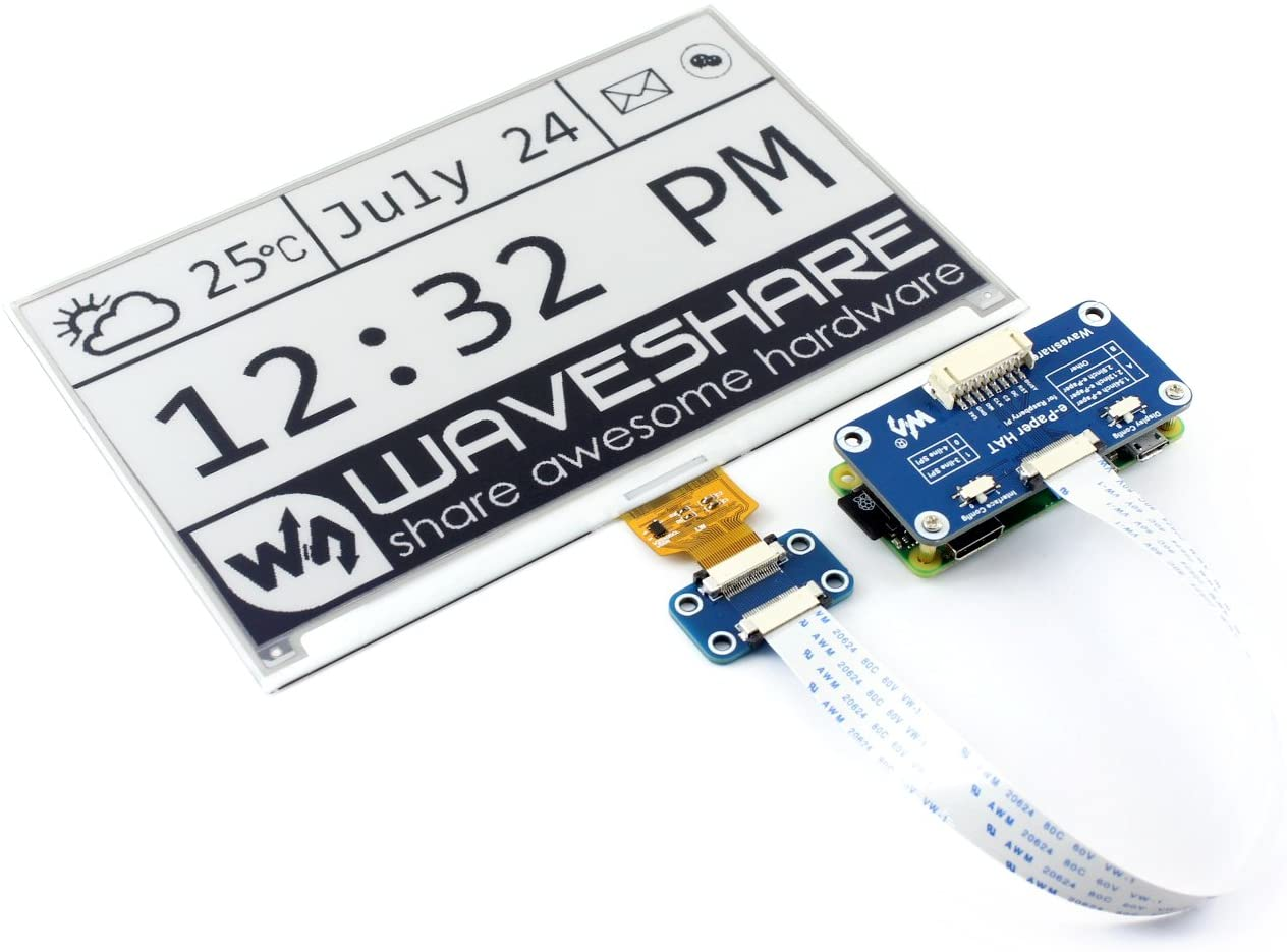 overseas Tulsa Mall Waveshare 7.5inch E-Ink Display HAT 800×480 for Pi Raspberry Res