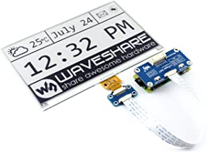 waveshare 7.5inch E-Paper Display HAT Module 640x384 E-Ink Electronic Paper Screen with Embedded Controller for Raspberry Pi 2B 3B 3B+ 4B Zero Zero W/Arduino/STM32/Jetson Nano
