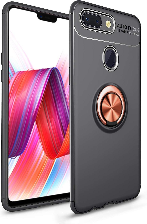 MAXJCN Caja del teléfono para Xiaomi Mi8 Lite, Estuche de protección TPU con protección contra Golpes y caídas Suave a Prueba de Golpes con Soporte de Anillo Giratorio de 360 Grados, Durable de Mod