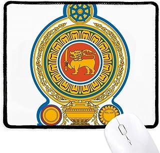 Alfombrilla antideslizante para mouse de Sri Lanka Asia National Emblema de oficina con bordes negros para regalo