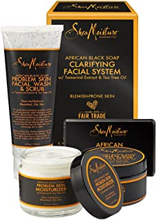 Sponsored Ad - SheaMoisture African Black Soap Facial System Kit |4oz. Facial Wash & Scrub |4 oz. Problem Skin Facial Mask...