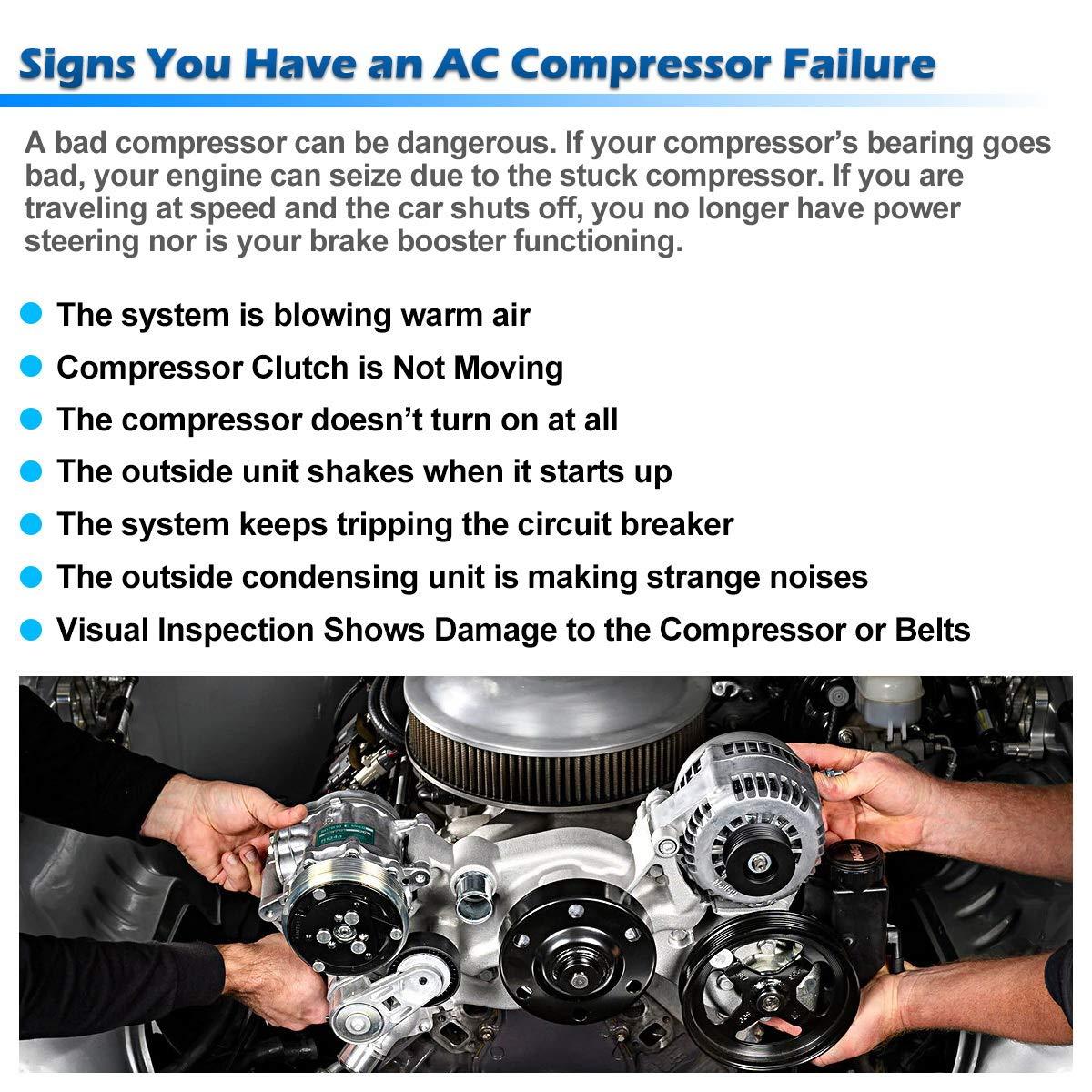 AUTEX AC Compressor & A/C Clutch CO 4854C TEM254491 C580R 55056335AA