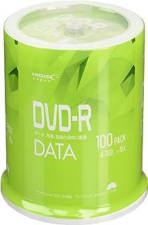 HI-DISC データ用 16倍速対応DVD-R 100枚 ワイドプリンタブル VVDDR47JP100