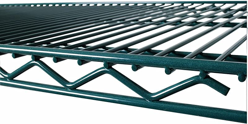 Commercial Green Epoxy Coated Wire Shelving 18 X 36 2 Shelves NSF