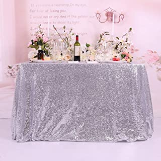 silver satin tablecloth