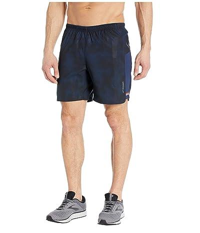 Brooks Sherpa 7 2-in-1 Shorts (Navy Haze) Men