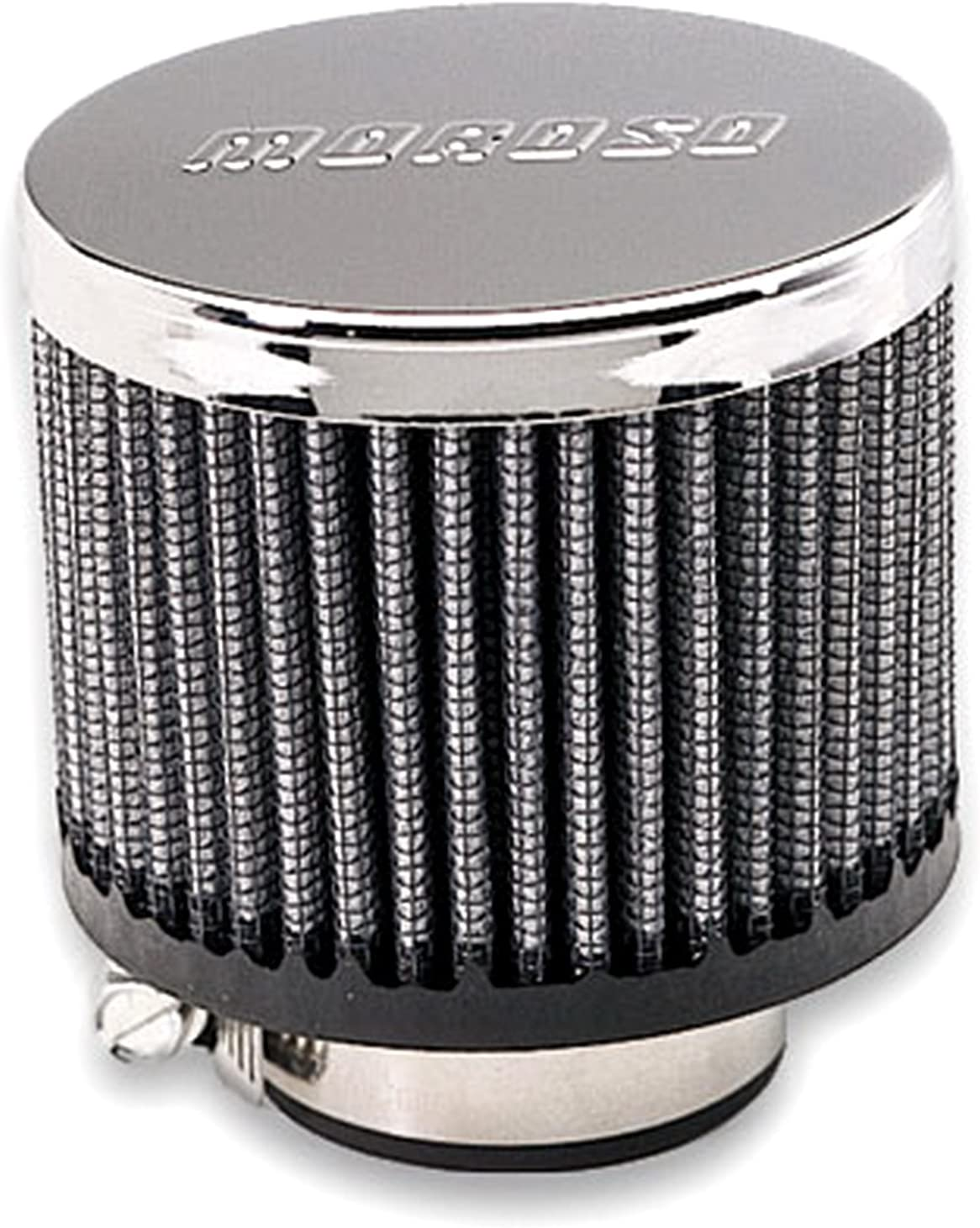 Large discharge sale Moroso VALVE COVER BREATHER NO CLAMP-ON New arrival HOOD