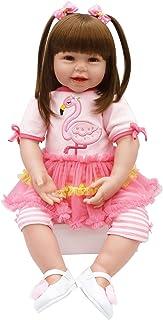 6cafecc95e0 Pursue Baby Corps Mou Réaliste Reborn Bambin Fille Poupée avec de Longs  Cheveux