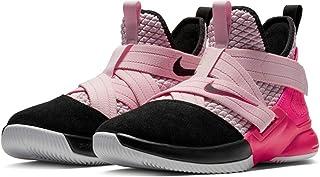Nike Girls Lebron Soldier XII 12 SFG Pink Black GS Big Kids Basketball Athletic Shoes 4Y