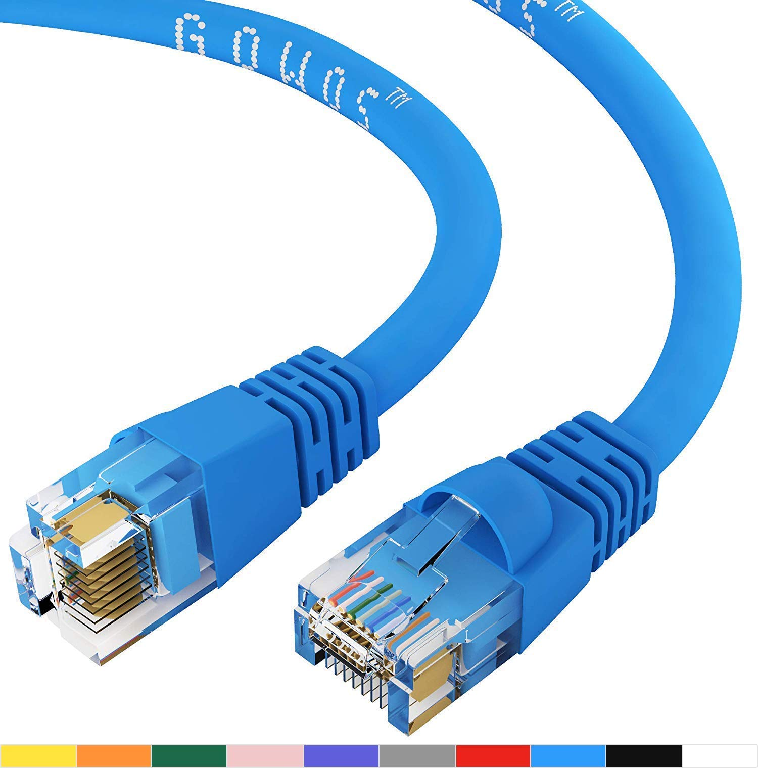 Cat5e Ethernet Cable Available in 28 Lengths and 10 Colors Computer Network Cable with Snagless Connector 5 Feet - Red GOWOS 100-Pack RJ45 10Gbps High Speed LAN Internet Patch Cord UTP