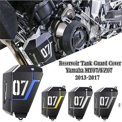 Amazon Com Fatexpress For 2013 2017 Yamaha Fz 07 Mt 07 Motorcycle Radiator Water Coolant Reservoir Tank Guard Cover Fz07 Mt07 Fz Mt 07 2014 2015 2016 Silver Automotive