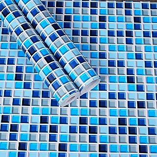 Contact Paper Self Adhesive Wall Tile Peel and Stick Backsplash for Kitchen Removable Shelf Liner Adhesive Backsplash Gloss Vinyl Film Kitchen Decorative Paper Peel Stick Wallpaper17.7inch x196inch