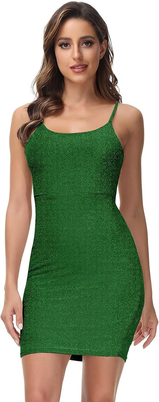 wowrosy Women's Sexy Club Dresses Summer Backless Spaghetti Straps Bodycon Party Mini Dress